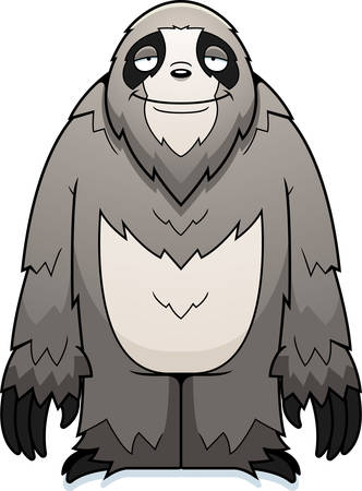 sloth: A cartoon sloth standing and smiling.