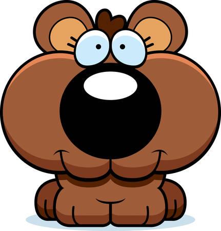 ourson: Un lionceau heureux et souriant d'ours de bande dessinée.