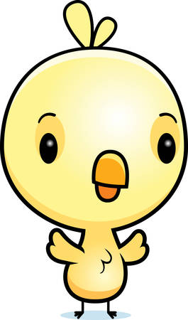 baby chick: A cartoon illustration of a baby chick standing.