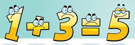 잘못 추가 한 숫자의 만화 그림. 스톡 콘텐츠 - 42466440