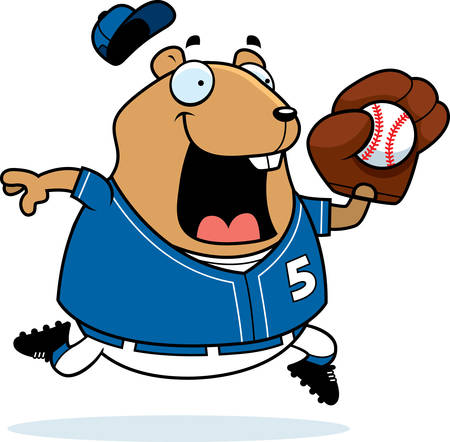 jersey: A cartoon illustration of a hamster playing baseball.