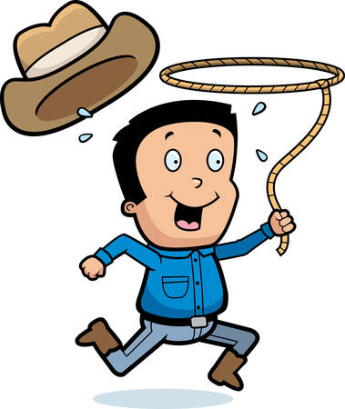 lasso: A cartoon illustration of a cowboy with a lasso.