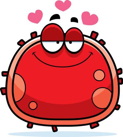 恋探して赤血球の漫画イラスト。