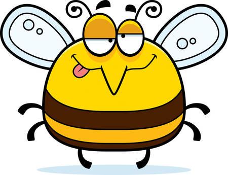 abeja caricatura: Un ejemplo del dibujo animado de una abeja en busca borracho.