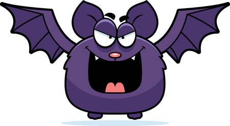 sinister: A cartoon illustration of a sinister looking bat.