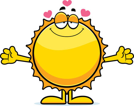 arts system: A cartoon illustration of the Sun ready to give a hug.