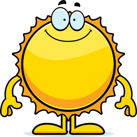 celestial body: A cartoon illustration of the Sun looking happy.