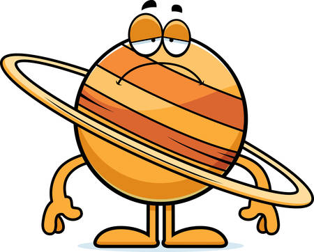 arts system: A cartoon illustration of the planet Saturn looking sad.
