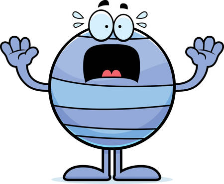 neptune: A cartoon illustration of the planet Neptune looking scared.