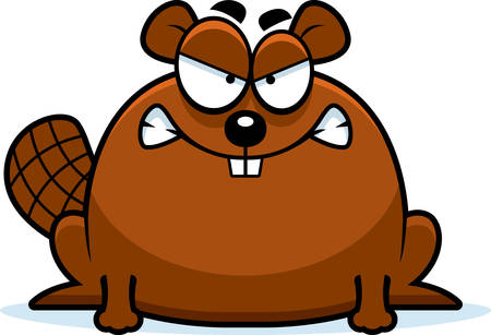 growl: A cartoon illustration of a beaver looking mad.