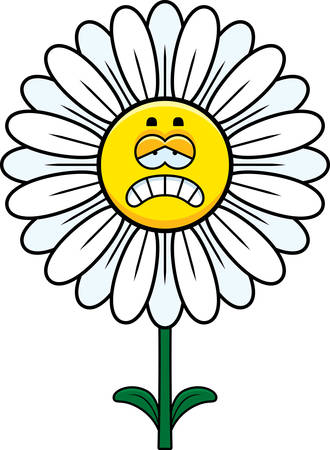 petal: A cartoon illustration of a daisy looking sad.