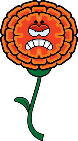 cempasuchil: Una ilustraci�n de dibujos animados de una maravilla que parece enojado.