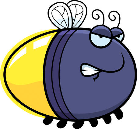 firefly: A cartoon illustration of a firefly with an angry expression.