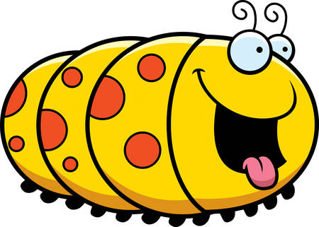 appetite: A cartoon illustration of a caterpillar looking hungry.