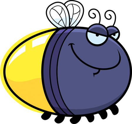 firefly: A cartoon illustration of a firefly with a sly expression.