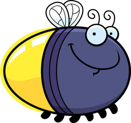 firefly: A cartoon illustration of a firefly looking happy.