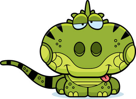 goofy: A cartoon illustration of a iguana with a goofy expression.