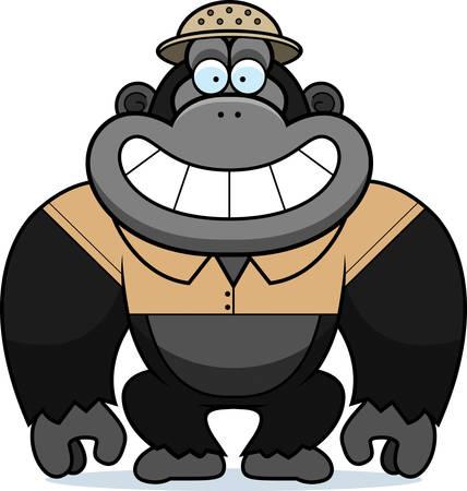 médula: Un ejemplo de la historieta de un gorila en un traje de safari y médula.