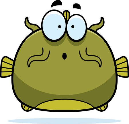 catfish: A cartoon illustration of a catfish looking surprised.