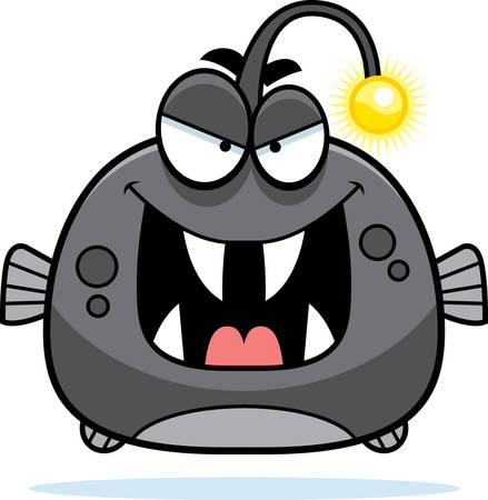 viperfish를 찾고 악의 만화 그림.