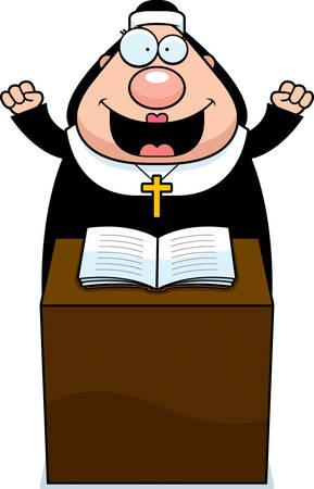 sermon: A cartoon illustration of a nun giving a sermon.