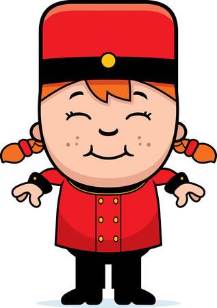 bellhop: Una ilustraci�n de dibujos animados de un ni�o botones sonriendo.