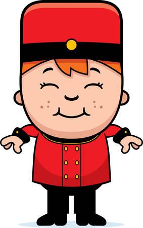 Une illustration de bande dessinée d'un enfant groom en souriant. Banque d'images - 42828464