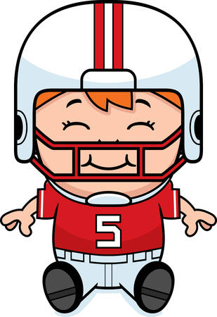 pis: Una ilustración de dibujos animados de un jugador de fútbol de estar pee wee.