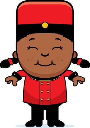 Une illustration de bande dessinée d'un enfant groom en souriant. Banque d'images - 42828049