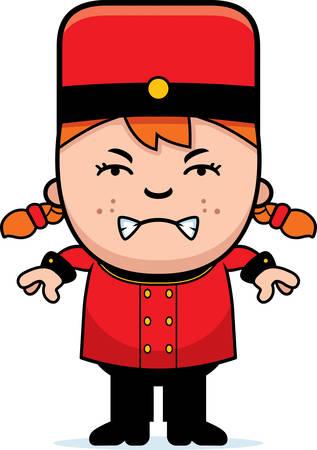 Une illustration de bande dessinée d'un Chasseur de l'enfant à la recherche en colère. Banque d'images - 42827971