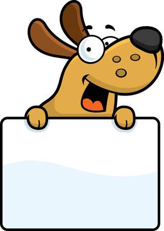 Un ejemplo de la historieta de un perro con una señal.