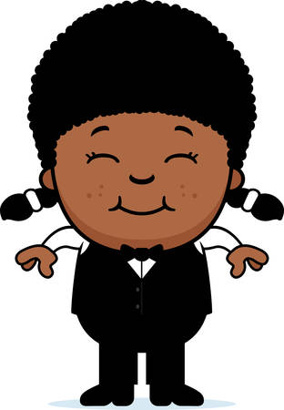 steward: A cartoon illustration of a little waiter smiling.