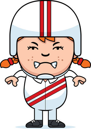 A cartoon illustration of a little daredevil looking angry. Ilustração