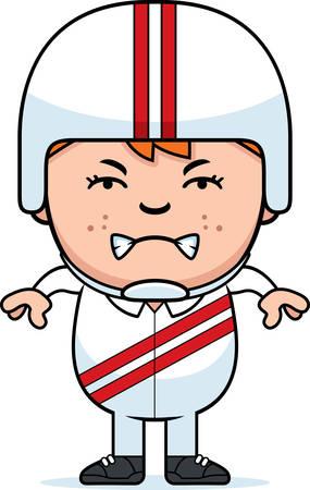daredevil: A cartoon illustration of a little daredevil looking angry. Illustration