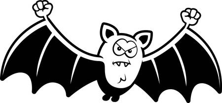 frown: A cartoon illustration of a bat looking angry.