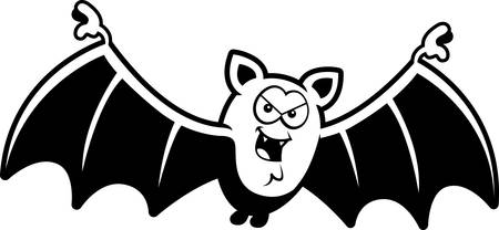 sinister: A cartoon illustration of a bat with a sinister grin.