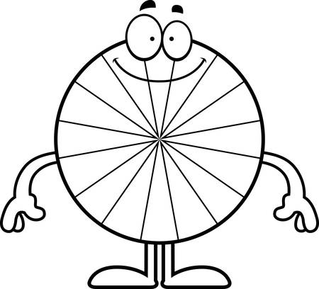 peppermint: A cartoon illustration of a peppermint looking happy. Illustration