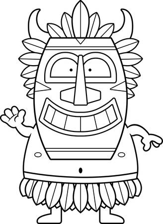A cartoon illustration of a witch doctor waving.