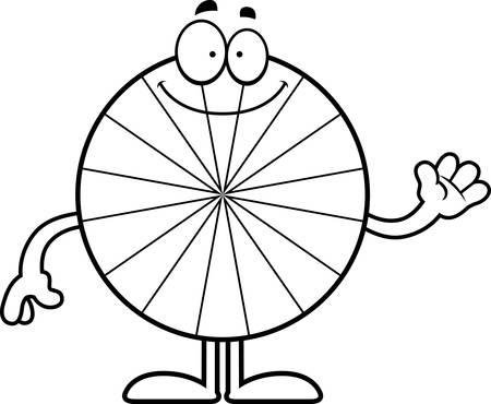 peppermint: A cartoon illustration of a peppermint waving.