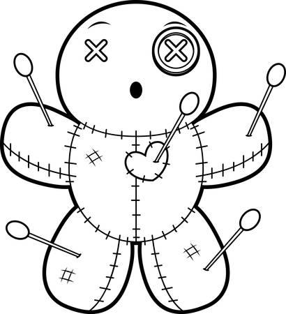 ブードゥー教の人形を見てみるとビックリの漫画イラスト。