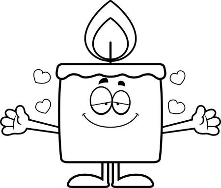 A cartoon illustration of a candle ready to give a hug. Banco de Imagens - 42988493
