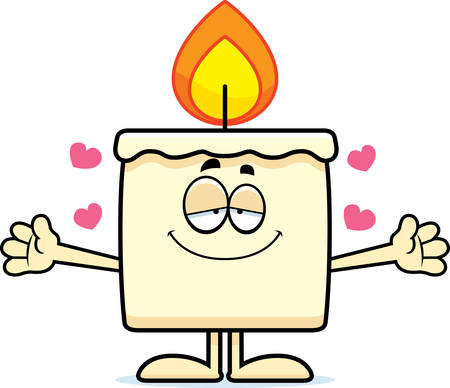A cartoon illustration of a candle ready to give a hug. Banco de Imagens - 42988098