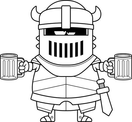 intoxicated: A cartoon illustration of the black knight looking drunk.