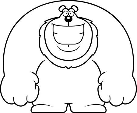 A cartoon illustration of a lion smiling.
