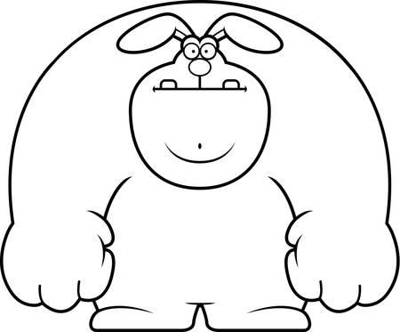 rabbit standing: A cartoon illustration of a rabbit standing.