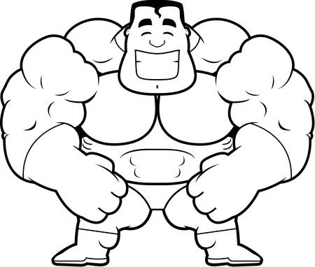steroids: A cartoon illustration of a superhero flexing.