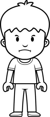 brat: A cartoon boy with a mad expression.