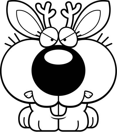 growl: A cartoon jackalope with an angry expression.