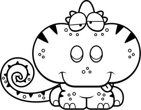구 피 식 카멜레온의 만화 그림.
