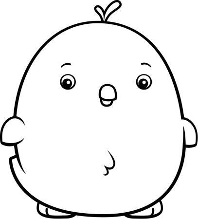 baby chicken: A cartoon illustration of a baby chicken standing.